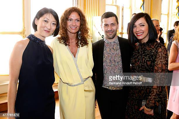 Fleur Pellerin Aurelie Saada Alexis mabille and Sylvie Hoarau attend French minister of Culture and Communication Fleur Pellerin gives Medal of...