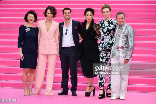 Fleur Pellerin Phoebe WallerBridge Albin Lewi Sandra OhJodie Comer and Benoit Louvet attend 'Killing Eve' and 'When Heroes Fly' screening during the...