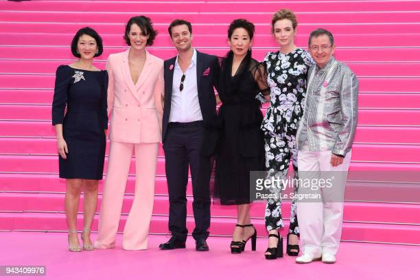 Fleur Pellerin Phoebe WallerBridgeAlbin Lewi Sandra OhJodie Comer and Benoit Louvet attend 'Killing Eve' and 'When Heroes Fly' screening during the...