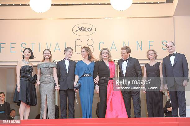 Fleur Pellerin, Sara Forestier, Rod Paradot, Emmanuelle Bercot, Catherine Deneuve, Benoit Magimel, Frederique Bredin and Pierre Lescure attends the...