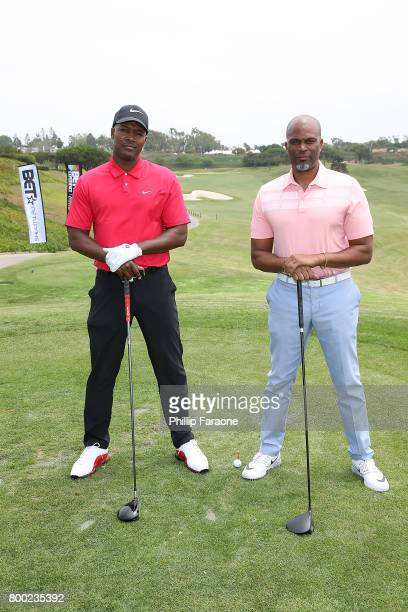 Flex Alexander and Chris Spencer attend the BETX Celebrity Golf Classic at Monarch Beach Golf Course on June 23 2017 in Dana Point California