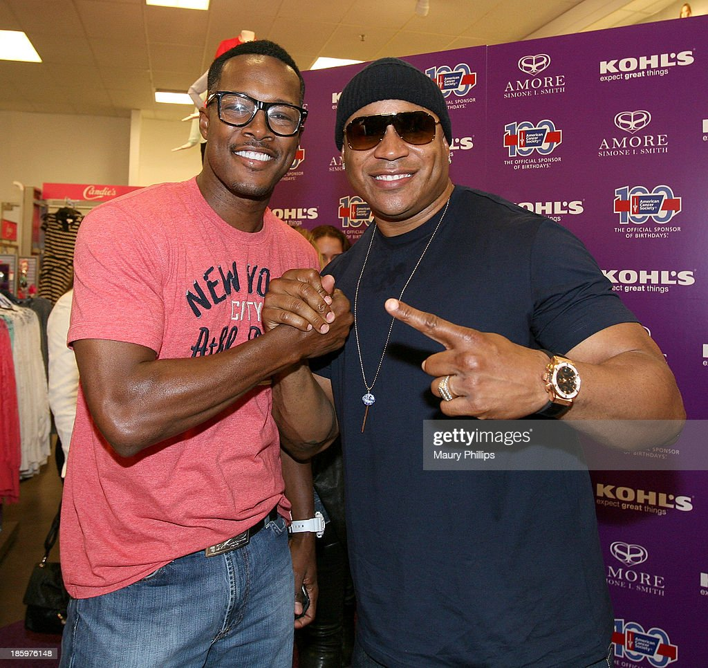 Flex Alexander and LL Cool J attend Amore by Simone I. Smith Collection Debut at Kohl's on October 26, 2013 in Los Angeles, California.