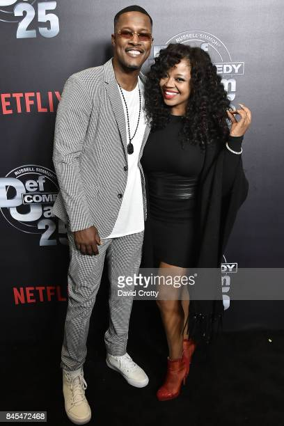 Flex Alexander and Shanice attend Netflix Presents Def Comedy Jam 25 at The Beverly Hilton Hotel on September 10 2017 in Beverly Hills California