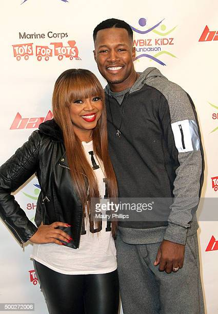 Flex Alexander and Shanice Wilson attend Marines Toys For Tots Celebrity Basketball Game/Toy Drive fundraiser presented by ShowBiz Kidz Foundation on...