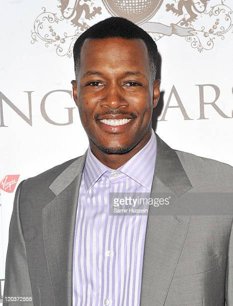 Flex Alexander attends the FitFlop Shooting Stars Benefit pairing dinner at Aspreys of London ahead of a twoday golf tournament raising vital funds...