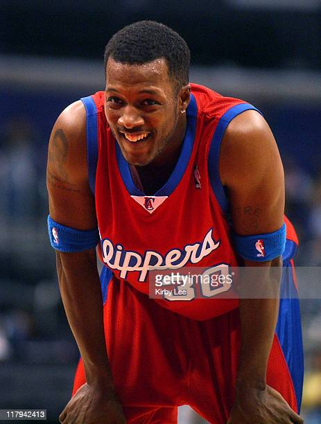 Flex Alexander participates in Los Angeles Clippers Celebrity basketball game at the Staples Center in Los Angeles Calif on Friday March 25 2005