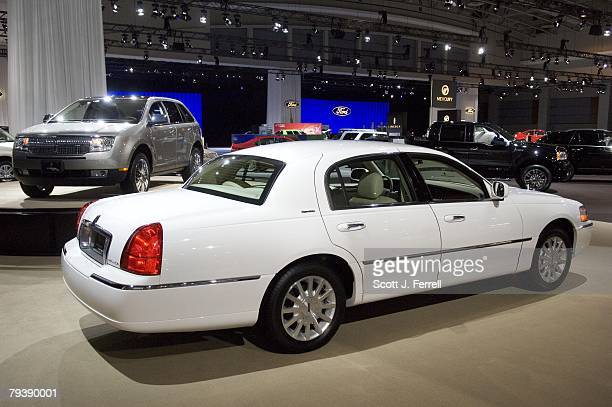 A 2008 flex fuel Lincoln Town Car during media day at the Washington Auto Show