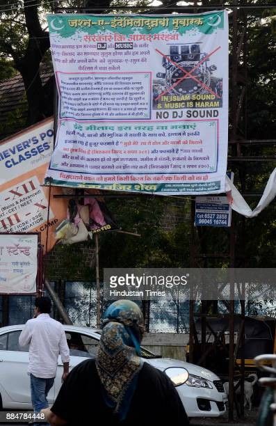 A flex put up near Shivaji market saying Do Not Use DJ during Eid MiladUnNabi the birth anniversary of Prophet Muhammad the founder of Islam also...