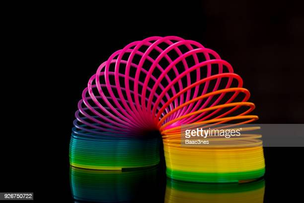 Flexibility - Colorful slinky toy