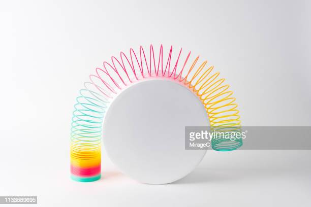 flexible coil striding cylinder - imbalance stock pictures, royalty-free photos & images