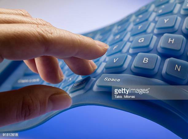 Flexible keyboard with hand