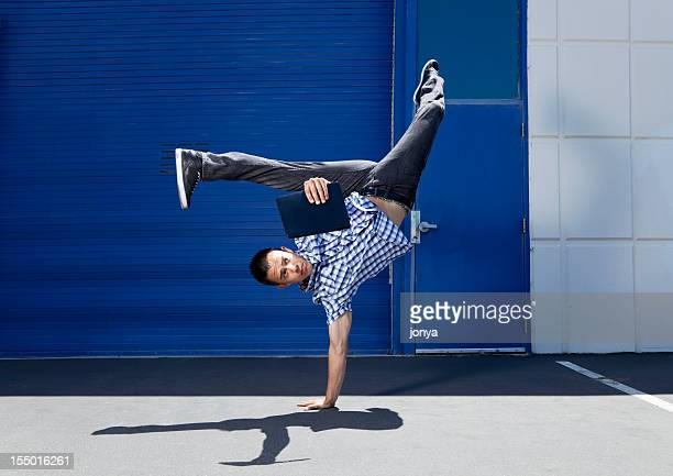 flexible reading - breakdancing stock photos and pictures