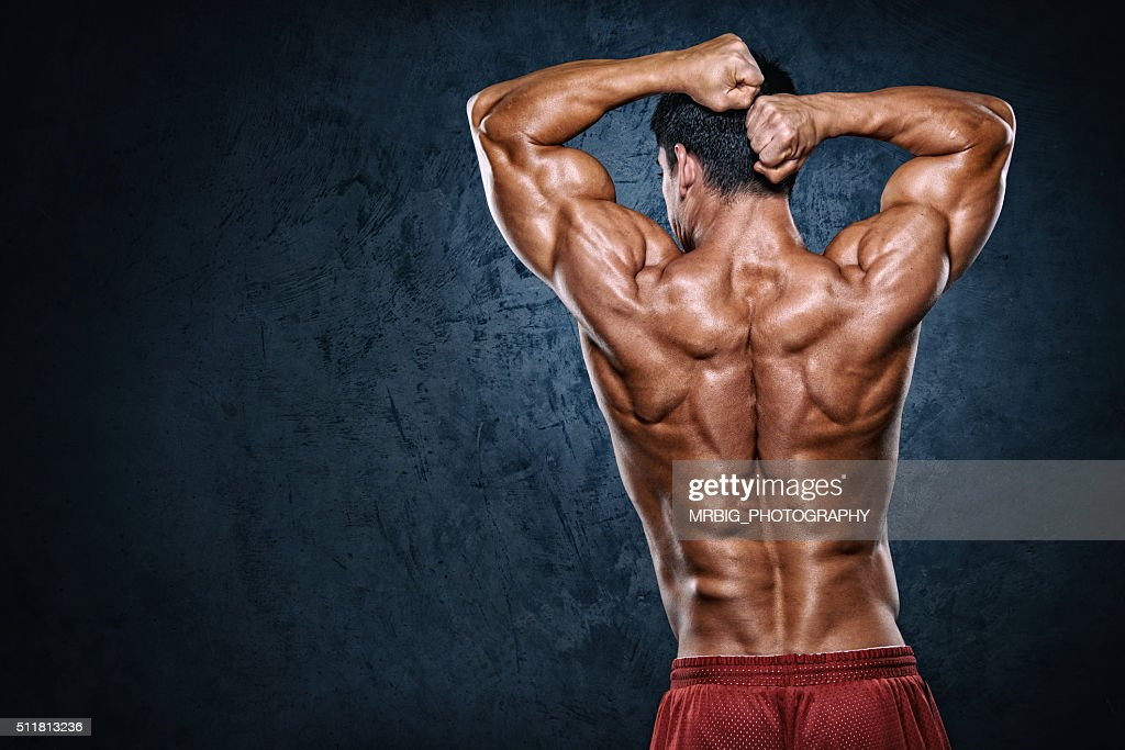 Flexing Muscles : Stock Photo