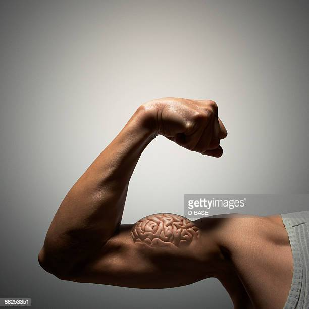 flexing muscles with human brain