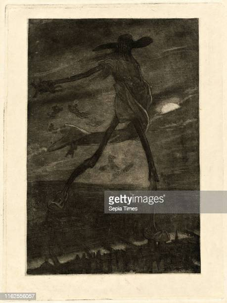 F̩licien Rops Satan Sowing Tare Belgian 18331898 aquatint and etching
