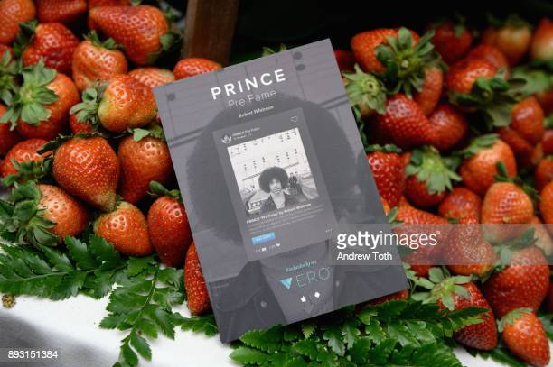 A flier on display at Robert Whitman Presents Prince 'Pre Fame' Private Viewing Event Exclusively On Vero on December 14 2017 in New York City