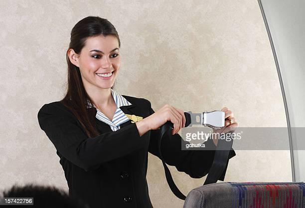 Flight Attendant And Seat Belt