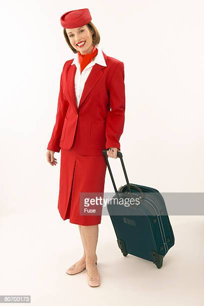 Flight Attendant in Red