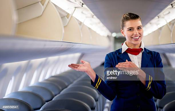 comissário de vôo - tripulação de bordo - fotografias e filmes do acervo