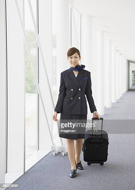 A flight attendant