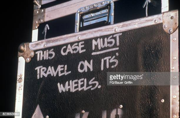 Flight case where Prince hid to leave the venue, Feyenoord Stadium, Holland on August 17, 1988 in Rotterdam, Netherlands. 170612F1