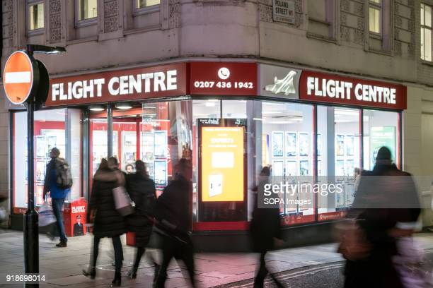 Flight Centre store seen in London famous Oxford street Central London is one of the most attractive tourist attraction for individuals whose willing...