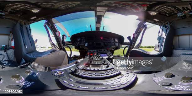 Image was created as an Equirectangular Panorama. Import image into a panoramic player to create an interactive 360 degree view.) Flight controls and...