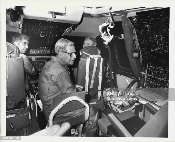 Flight crew of the NASA Kuiper flying telescope which has been operating for several weeks out of Richmond Air Force Base Mr Warren Hall Mr Wally...