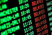 flight delays - delayed departures / arrivals screen