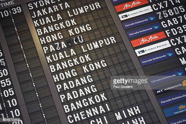 Flight Departure Information at Singapore Changi Airport