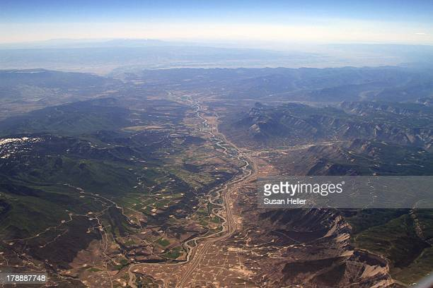 CONTENT] A flight from Dallas to Seattle in June reveals a large field of hydrofracking pad sites in a mountain valley in what I believe to be...