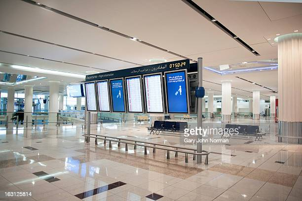 Flight information display boards at Dubai airport