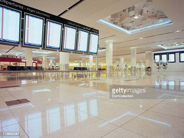 Flight information displays at Dubai Airport