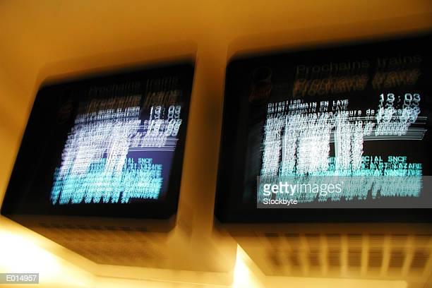 Flight information monitors