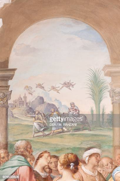Flight into Egypt 16231634 detail from the Presentation of Jesus at the Temple fresco by Isidoro Bianchi after its restoration Church of Santa Maria...