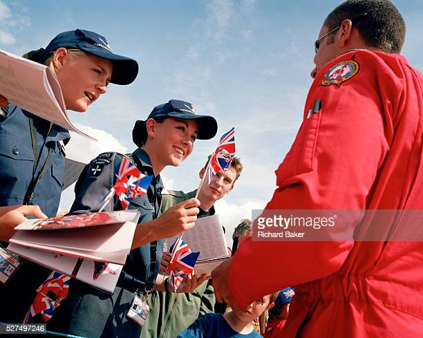 Flight Lieutenant Dave Slow is a pilot with the 'Red Arrows' Britain's Royal Air Force aerobatic team and on a hot summers day at the RIAT Air Tattoo...