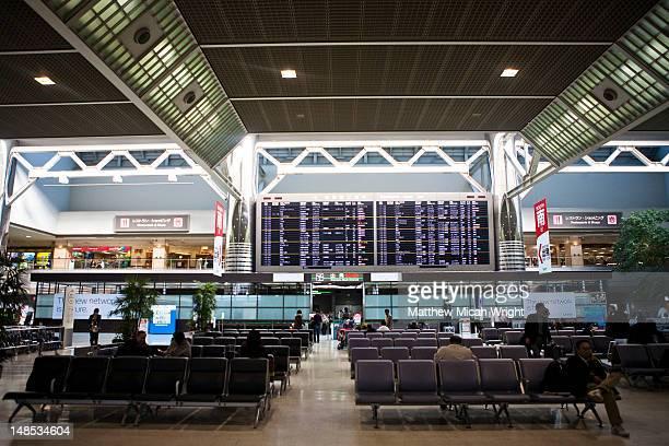 Flight lounge at Narita Airport.