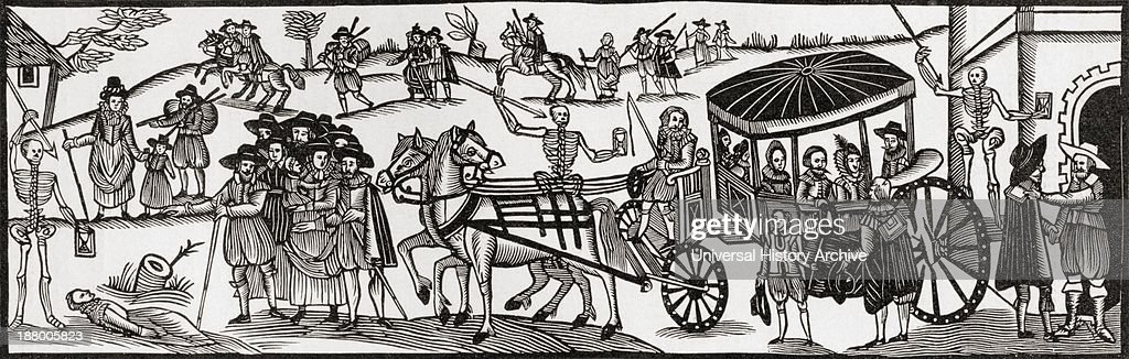 Flight Of The Townspeople Into The Country To Escape From The Plague : News Photo