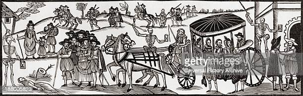 Flight Of The Townspeople Into The Country To Escape From The Plague 1630 From The Book Short History Of The English People By JR Green Published...