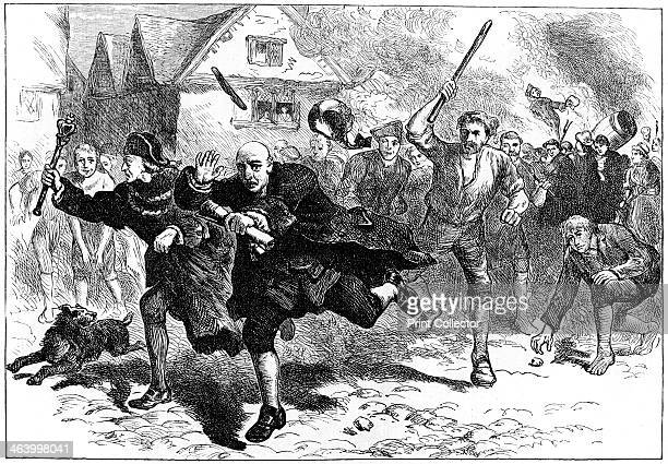 Flight of Thomas Hutchinson before the rioters Boston Massachusetts 1765 The Lieutenant Governor of Massachusetts Hutchinson was forced to flee when...
