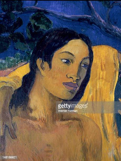 Flight' or 'Tahitian Idyll' by Paul Gauguin , Painted in 1902 after Gauguin's second voyage to Tahiti. France.