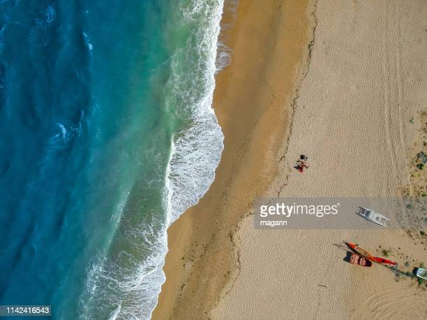 an image flight over beach near