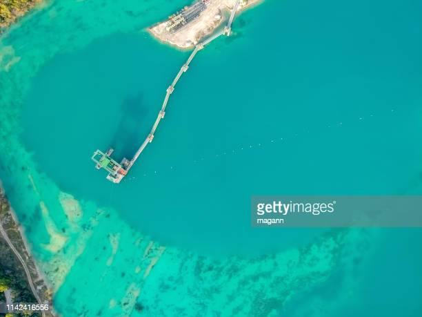 an image flight over borrow pit
