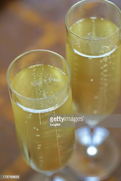 Flight over Bubbles of Champagne