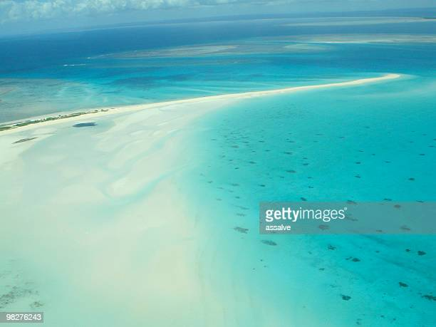 flight over medjumbe island resort - mozambique stock pictures, royalty-free photos & images