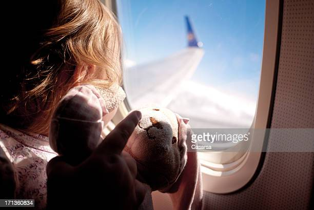 flight - baby pointing stock photos and pictures