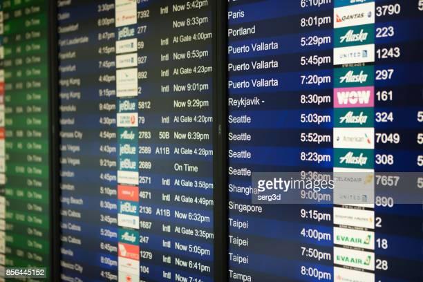Flight Status Board in SFO