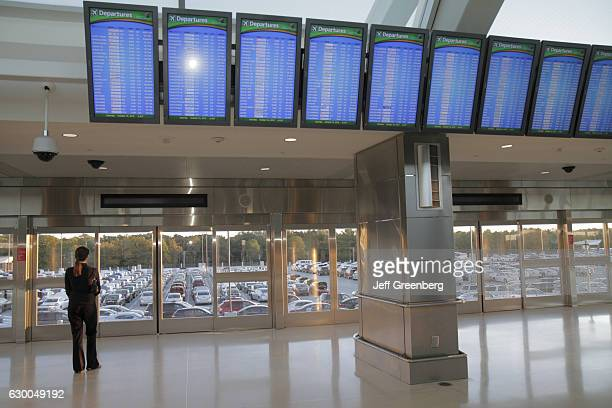 Flight status monitors in HartsfieldJackson Atlanta International Airport