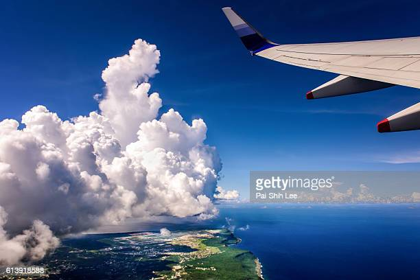 A Flight Taking off from the Guam Airport