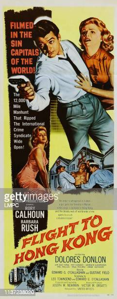Flight To Hong Kong poster US poster top from left Rory Calhoun Dolores Donlon 1956